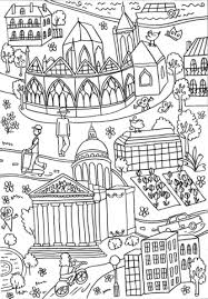 Click To See Printable Version Of The Pantheon And Latin Quarter Coloring Page