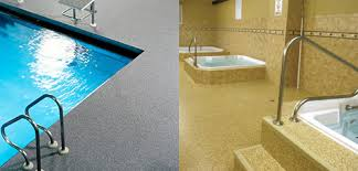 what flooring should i use for my locker rooms and pool decks