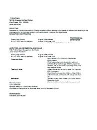 Babysitter Sample Resume Daycare Teacher Description Example Director Samples Nanny