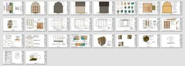 10x10 Shed Plans Blueprints by 10x10 Barn Shed Plans