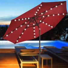 Solar Lighted Rectangular Patio Umbrella patio umbrellas with solar lights december 2017