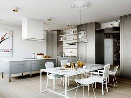 Eat In Kitchen Island Designs Modern White Marble Kitchen