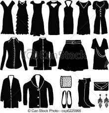 Womens Clothes Vector Clip Art Royalty Free 572 In Clothing Clipart