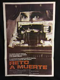 100 Duel Truck Driver 1983 Original Vintage Spanish One Sheet Movie Poster Steven