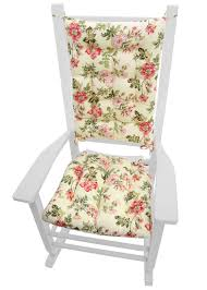 Farrell Multi Virginia Rose Floral Rocking Chair Cushions - Latex ... Fniture Immaculate Nursery Rocking Chair Your Residence Concept Amazoncom Storkcraft Angelina Glider Cushion Oaksage Best Rocker Wayfair Dutailier Round Back Design Sleigh Shermag Combo Chablis With Sage Baby Chairs Lovely Home Ideas Ottoman Pads Calgary For Cool Rhyme Toile Pad Carousel Designs Beautiful Exquisite Striped Cushions Burgundy Federal Blue And Affordable Bench World Market Soft And Smooth Classic Swivel Upscale Consignment