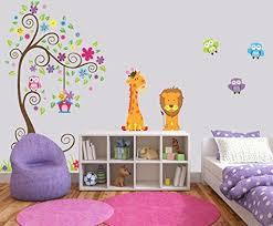 kinder wandtattoo bunte eule giraffe l wenbaum dekorative unisex aufkleber für kinder schlafzimmer kinderzimmer spielzimmer wandbild