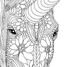 Coloring Pages Flowers To Print Printable Unicorn As Well Hard And Plus Page Unico