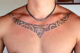 Nice Tribal Necklace Tattoo For Men