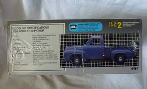 Amazon.com: AMT 1953 Ford F-100 Pickup Truck Plastic Model: Toys & Games