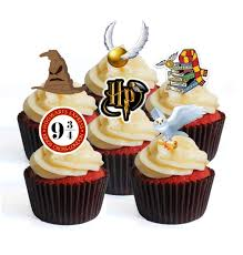 12 Harry Potter Theme PRECUT Edible Cupcake Toppers