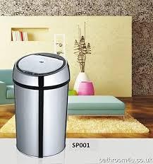 automatisch infrarot sensor mülleimer für badezimmer oder im büro luxus edelstahl mit schön chrom ausführung 6 liter