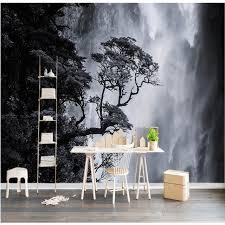chambre arbre taille personnalisée photo fond papier peint cascade arbre noir