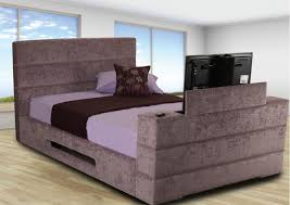 King Platform Bed With Fabric Headboard by Bedroom Modern King Platform Bed Frame Built In Side Table And