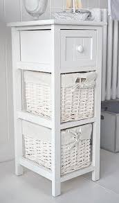 25cm wide narrow white bathroom storage furniture bar harbor