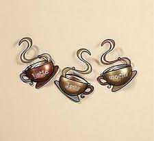 Wall Art Metal Decoration Coffee Tea Cup Home Mug Java House Kitchen Latte Mocha