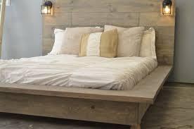 Rustic Wooden Platform Bed Black Wooden Platform Bed Fabric