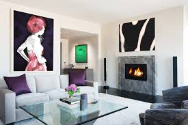 Living Room With Fireplace Design by Contemporary Living Room