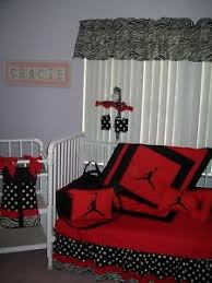 michael jordan crib bedding set mobile diaper bag with zebra