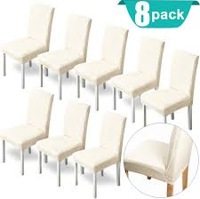 XPCARE Stretch Dining Room Chair Covers Chair Slipcover For Dining Hotel  Chair (8 Pack) Xiazuo Ding Chair Slipcovers Stretch Removable Covers Set Of 6 Washable Protector For Room Hotel Banquet Ceremonywedding Subrtex Sets Fniture Armchair Elastic Parsons Seat Case Restaurant Breathtaking Your Home Idea How To Sew A Slipcover The Ikea Henriksdal Hong Elegant Spandex Chairs Office Grey 4 Chun Yi Waterproof Jacquard Polyester Small Checks Antistain 2 Linen Store Luxurious Damask Cover Form Fitting Soft Parson Clothman Printed High Elasticity Fashion Plaid Kitchen 4coffee Subrtex Dyed Pieces Camel Leanking Knit Fabric Decor Beige Pcs Leaf Stretchable 1 Piece Yellow