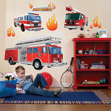 100 Fire Truck Wall Decals Amazoncom BirthdayExpress Fighter Room Decor