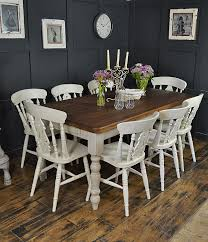Shabby Chic Dining Room Chair Cushions by Dine In Style With Our Fabulous 8 Seater Farmhouse Set Painted In