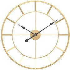 k9ck wanduhr gold vintage wanduhr aus eisen 50cm wanduhr ohne ticken für wohnzimmer schlafzimmer küche dekor