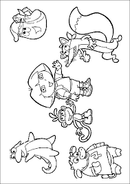 Coloring Page With Dora And Her Friends