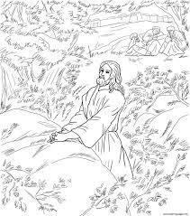 Good Friday 1 Jesus Pray In The Garden Of Gethsemane Coloring