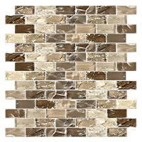 mexican sand shimmer brick glass mosaic tile 1 x 2 in 24 99 sq