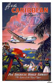 Pan American World Airways Vintage Travel Poster Acrylic Print Canvas