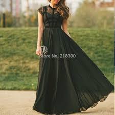 com buy modest black prom dresses cap sleeves formal dresses
