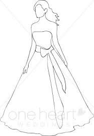 Bride Outline Clipart