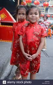 chinese girls in traditional dress zhongshan park yinchuan stock
