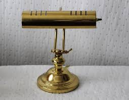 Antique Bankers Lamp Green by Vintage Brass Adjustable Electric Table Lamp Piano Lamp Desk