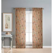 Geometric Pattern Sheer Curtains by Window Elements Sheer Olina Printed Sheer 54 In W X 84 In L