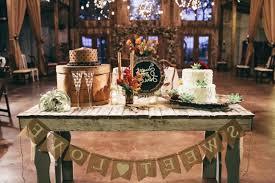 Rustic Wedding Cake Table Decor