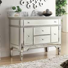 18 Inch Deep Bathroom Vanity Canada by Adelina 44 Inch Mirrored Bathroom Vanity White Carrara Marble