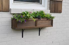 Lowes Window Boxes Diy Rustic Red Cedar Raised Planter Box