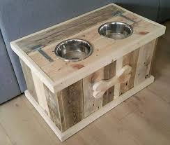 Pallet Dog Bowl Stand With Storage Ideas