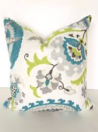 Oversized Throw Pillows For Couch by Teal Blue Pillow 16x16 Decorative Throw Pillows Gray Lime Green