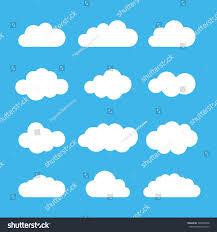 100 Flat Cloud Icon Set Different Shapes