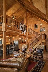Simple Log Home Great Rooms Ideas Photo by Log Home Stairs Rails Log Homes Of America Rustic