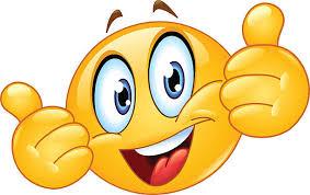 Thumb Up Emoticon Vector Art Illustration