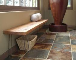 modern wood bench etsy