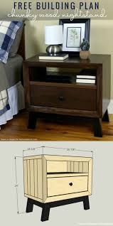 Tortilla Curtain Pdf Online by Diy Chunky Solid Wood Nightstand Tutorial Building Plan