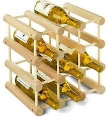 Wood Wine Rack 12 Bottle Expandable Modular Solid Pine Wine