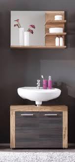 bad spiegel mit wandboard cancun nussbaum satin badezimmer wandspiegel regal 72 cm