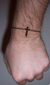 Small Cross Tattoos For Mens Wrist