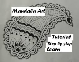 How To Draw Easy Mandala Leaf Art Design For Beginners Tutorial Doodle Drawing Step By