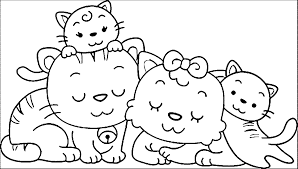 Animal Family 1 Coloring Page